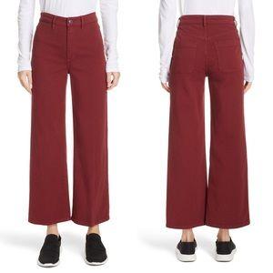 Vince Pants - Vince Colored Denim Crop Pants in Anise
